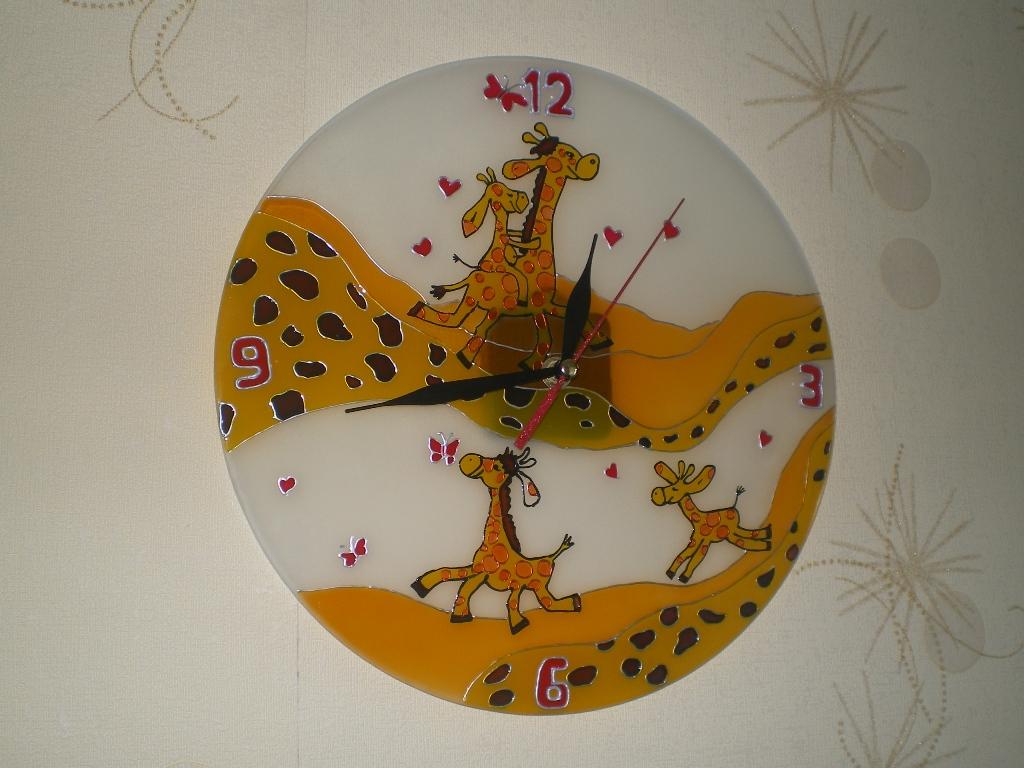 Часы своими руками по стеклу